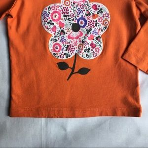Hanna Andersson Shirts & Tops - Hanna Andersson size 80 12 18 months orange flower